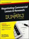 Negotiating Commercial Leases & Renewals For Dummies eBook